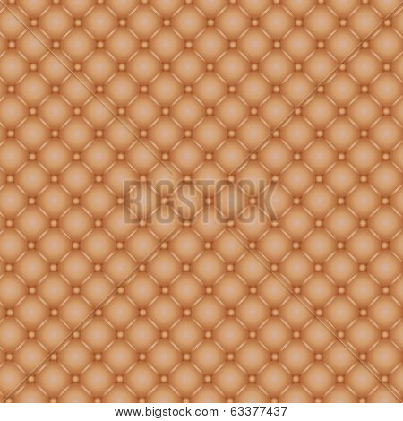 Button tufted leather
