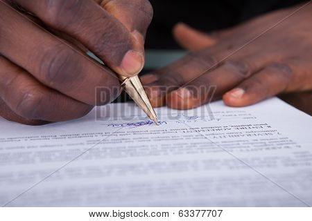 Businessperson Signing Contract