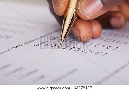 Businessman Filling Form