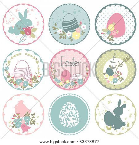 easter circle tags