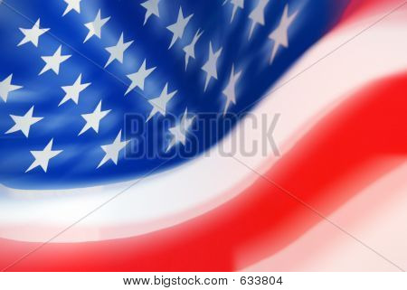 Moving USA Flag