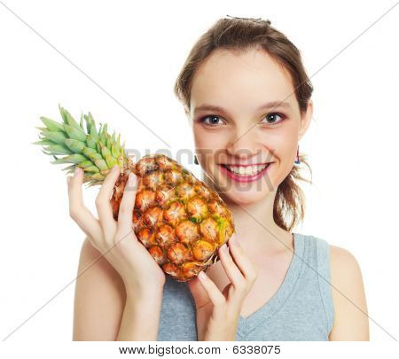 Girl With A Pineapple