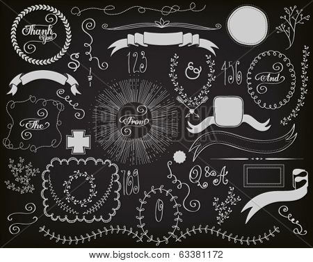 Chalkboard Design Elements -