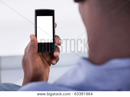 Person Holding Mobile Phone