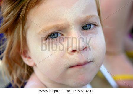 Children On The Beach Sun Screen Protection Moisture