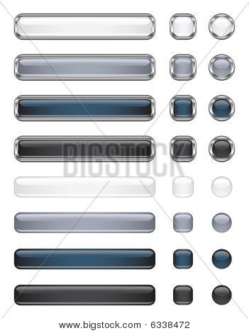 Black And White Buttons Collection