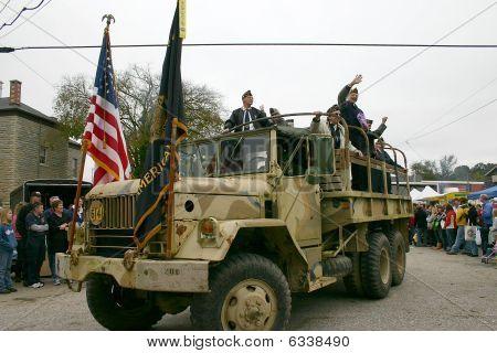American Legion In Parade