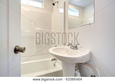 Simple Bathroom Interior.