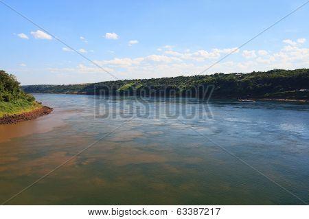 Triple Frontier, Iguazu, Parana River, Argentina, Paraguay