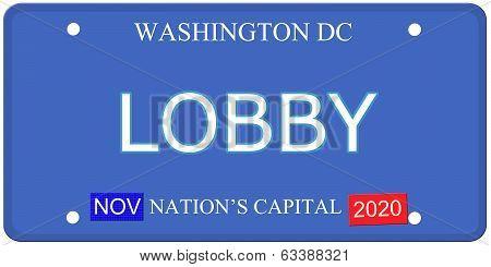 Washington Dc Lobby License Plate