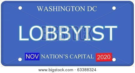 Washington Dc Lobbyist License Plate
