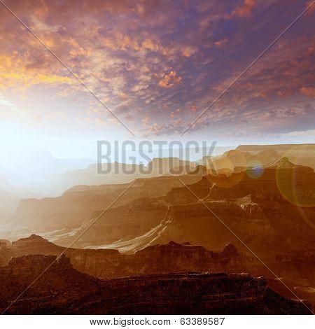Arizona sunset Grand Canyon National Park Yavapai Point USA