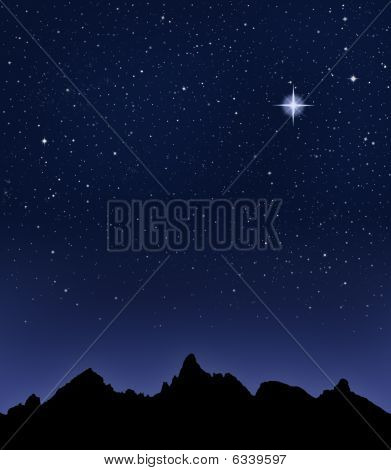 Mountain Starry Night