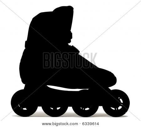 One Roller-skate Shoe
