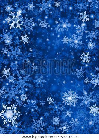 Fondo de nieve azul