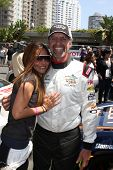 LOS ANGELES - APR 12:  Vanessa Marcil, Kyle petty at the Long Beach Grand Prix Pro/Celeb Race Day at