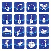 picture of drums  - music instruments vector button include guitar - JPG