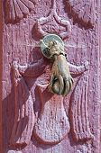Door handle knocker