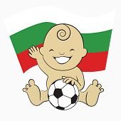 Baby Soccer Boy with Bulgaria Flag