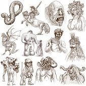 stock photo of minotaur  - Myths and Legendary Monsters around the World  - JPG