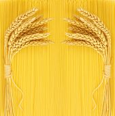Spaghetti with wheat ears