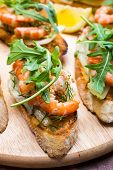 Prawn Bruschetta with  Fennel Salad