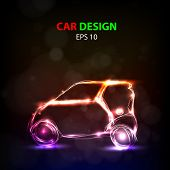 Abstract car model, easy all editable