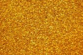 stock photo of gold glitter  - The scattering of small nuggets of gold - JPG