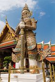 picture of gatekeeper  - Giant gate protector in Bangkok Grand Palace Wat Phra Kaeo Bangkok Thailand