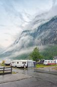 image of fjord  - Campsite on the Geiranger fjord - JPG
