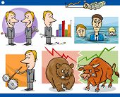 pic of lobbyist  - Concept Cartoon Illustration Set of Funny Men or Businessmen Characters and Business Metaphors - JPG