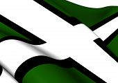 foto of devonshire  - 3D Flag of Devon - JPG