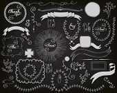 stock photo of freehand drawing  - Chalkboard Design Elements  - JPG