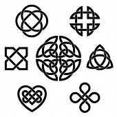 picture of celtic  - Variety of celtic knots - JPG