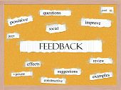 foto of pegboard  - Feedback Corkboard Word Concept with great terms such as questions good social and more - JPG