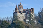 The Medieval Castle Of Bran. It Is Known For The Myth Of Dracula. poster