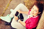 picture of youngster  - summer holidays and teenage concept  - JPG