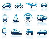 picture of aeroplane symbol  - Vector image simple images of types of transport - JPG