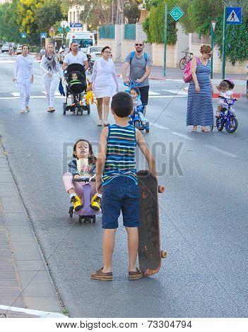 Yom Kippur In Tel Aviv, Israel