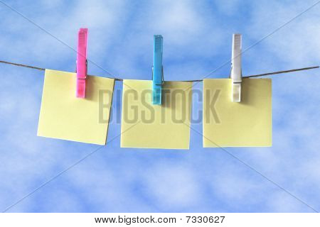 Post  Notes on Washing Line