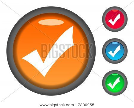 Iconos de botón de la marca de verificación