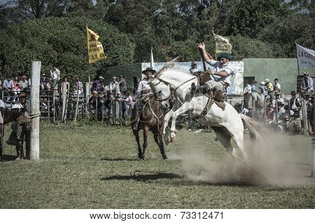 Marelli-november 29:gauchos Compete In The Rodeo At The Traditional Festival Province Maldonado