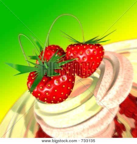Strawberry In A Cream
