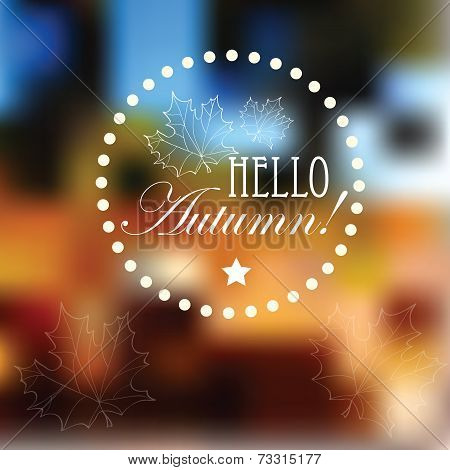 Vector Blurred Autumn Landscape Background