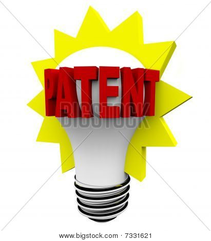 Patent Word On Light Bulb