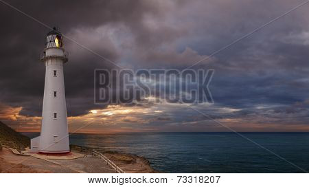 Castle Point Lighthouse, sunrise, Wairarapa New Zealand