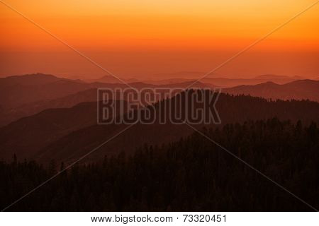 Sierra Nevada Summer Sunset