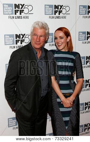 NEW YORK-OCT 5: Actors Richard Gere and Jena Malone attend the premiere of