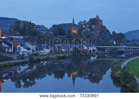 Saarburg - Total View In The Evening