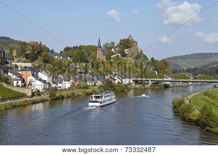 Saarburg - View From A Saar Bridge